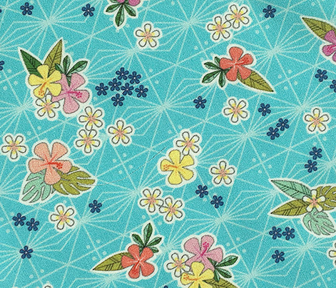 Kihapai* (Ultraviolet) || flowers flower floral garden plumeria hibiscus tropical Polynesian Hawaii Hawaiian leaves nature tribal geometric diamonds