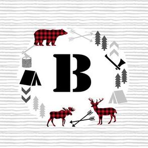 """B monogram - 9"""" square"""