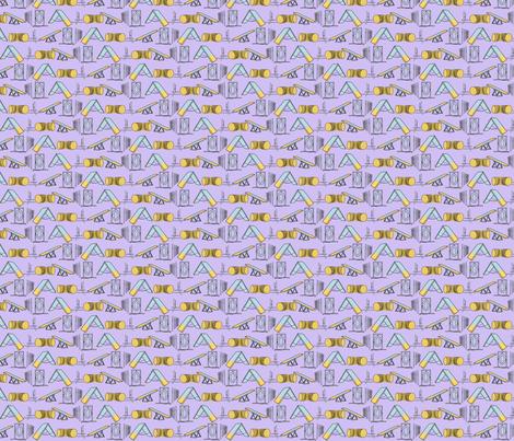 Simple Dog Agility equipment - tiny border purple fabric by rusticcorgi on Spoonflower - custom fabric