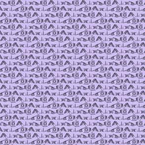 Simple Dog Agility equipment - tiny sillhouette border purple