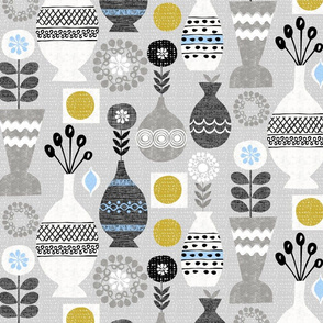 retro scandinavian vases-mcm
