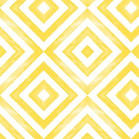 watercolor diamonds - yellow fabric by littlearrowdesign on Spoonflower - custom fabric