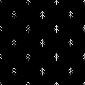 Small Trees on Black