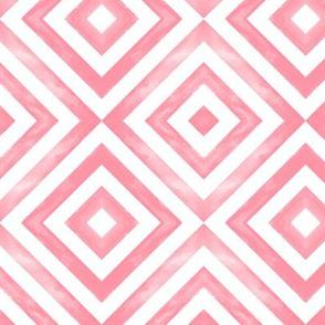 watercolor diamonds pink