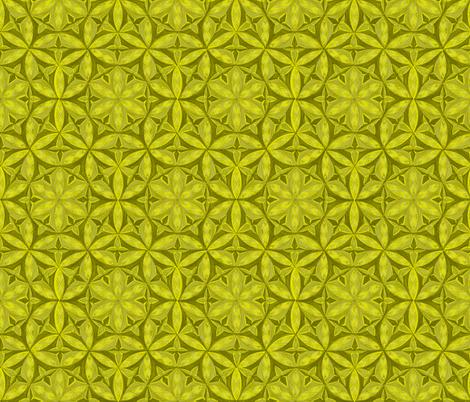 Flower of Life Hand Drawin Lemon Color fabric by cveti on Spoonflower - custom fabric