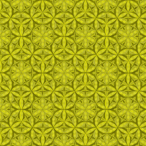 Flower of Life Hand Drawin Lemon Color