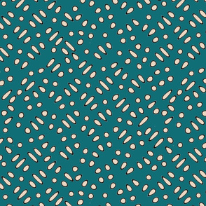 Sesame Seeds and Rice Teal Upholstery Fabric