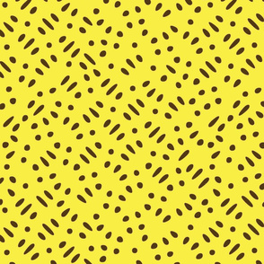 Sesame Seeds and Rice on Yellow Upholstery Fabric