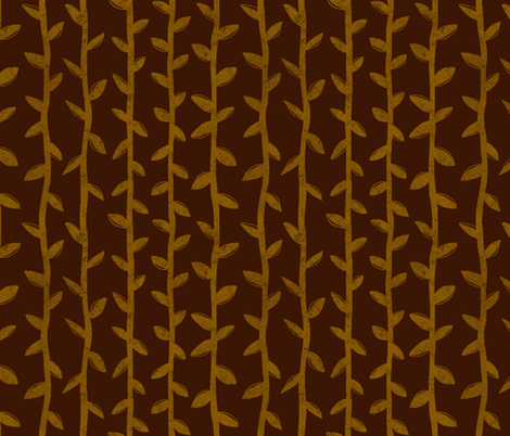 Brown Vines fabric by thewellingtonboot on Spoonflower - custom fabric