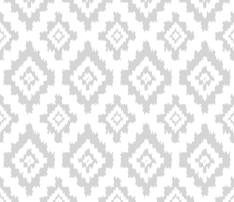 Boho Ikat in White fabric by thewellingtonboot on Spoonflower - custom fabric