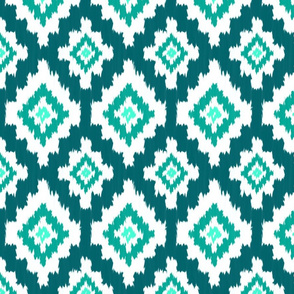 Boho Ikat in Teal
