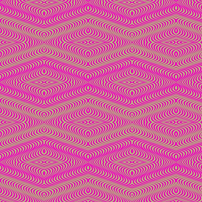 Optic Waves Pink and Green