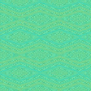 Optic Waves Turquoise and Green