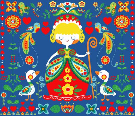 swedish folk fabric by gnoppoletta on Spoonflower - custom fabric