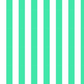 turquoise stripes-medium