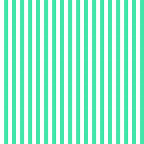 turquoise stripes-thin
