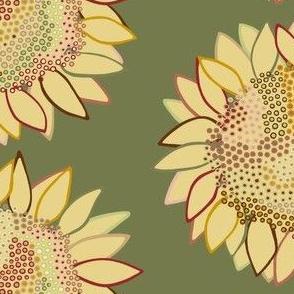 Mom's Sofa: Dot Swarm Flower