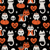 Halloween Kitties (Black)