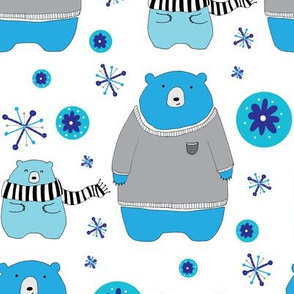Winter Sweater Bears Illustration