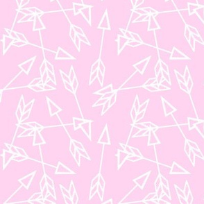 Arrow Scatter on Candy Pink