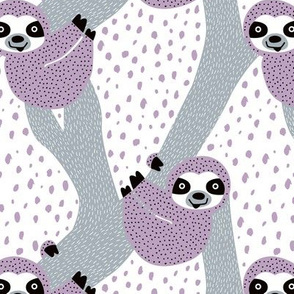 Violet Sloths just hang in these pura vida jungle animals girls