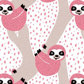 Pink Sloths just hang in these pura vida jungle animals girls