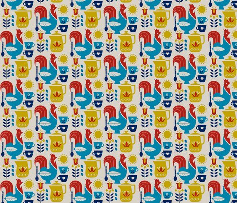 Swedish kaffe small fabric cindylindgren spoonflower for Swedish design shop