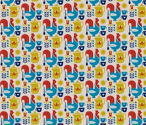swedish Kaffe small fabric by cindylindgren on Spoonflower - custom fabric