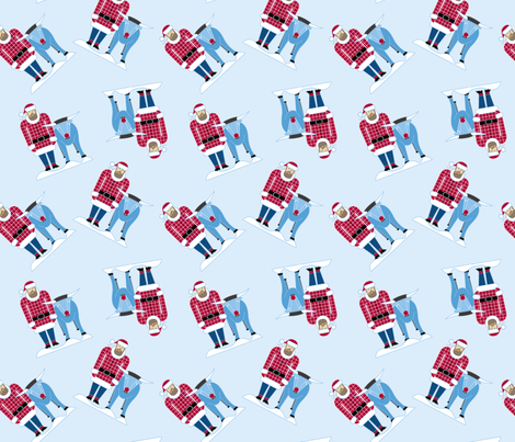 Santa Bunyan fabric by cindylindgren on Spoonflower - custom fabric
