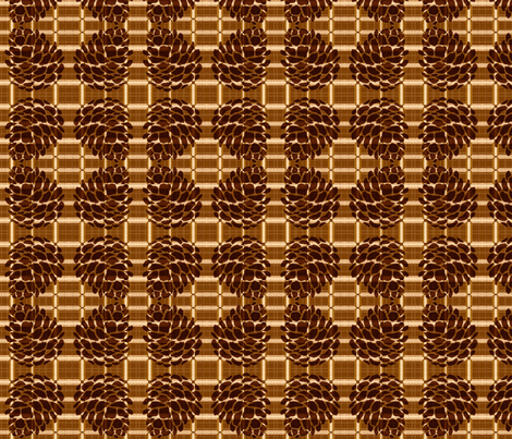 Autumn Plaid-Pine Cone fabric by kae50 on Spoonflower - custom fabric