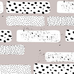 Strips and spots abstract dots Scandinavian art texture gender neutral beige