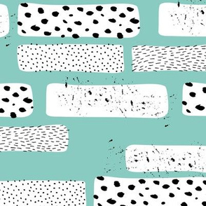 Strips and spots abstract dots Scandinavian art texture gender neutral blue