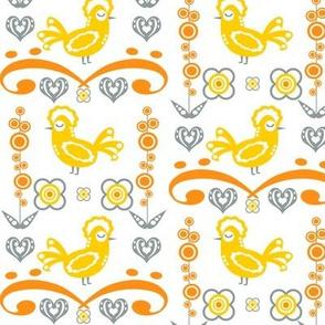 Swedish Folk Art Birds