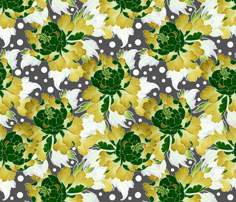 Retro Peonies 2 fabric by whimzwhirled on Spoonflower - custom fabric