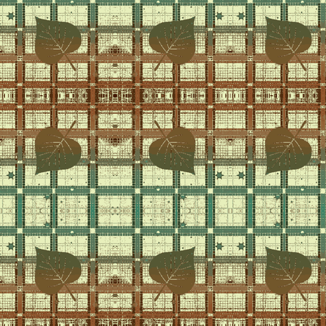 Autumn Plaid-large cottonwood cream ombre fabric by kae50 on Spoonflower - custom fabric