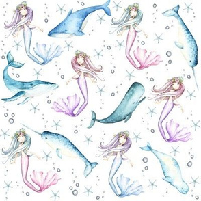 mermaid (white)