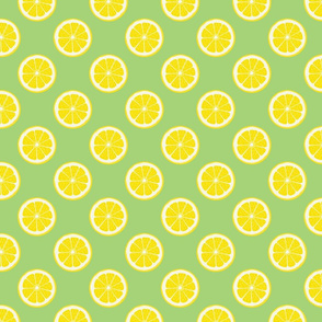 Lemons On Lime Green
