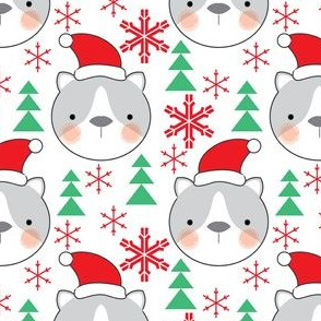 cat-faces-with-santa-hats