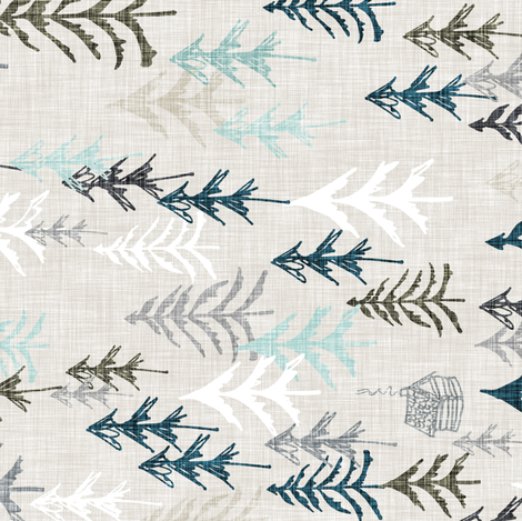 Solitude (earth) Railroad fabric by nouveau_bohemian on Spoonflower - custom fabric