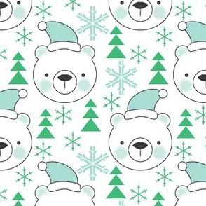 bear-faces-blue-with-santa-hats-trees-snowflakes