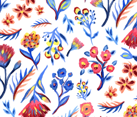 bohemian summer day fabric by laragurney on Spoonflower - custom fabric
