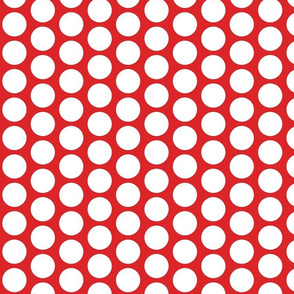 Large Red and White Dots