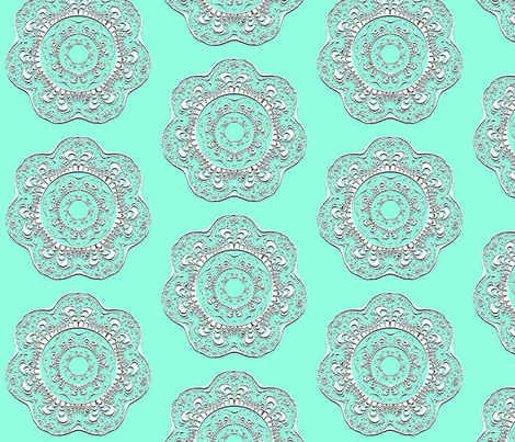 White Fractal Doilies fabric by anneostroff on Spoonflower - custom fabric