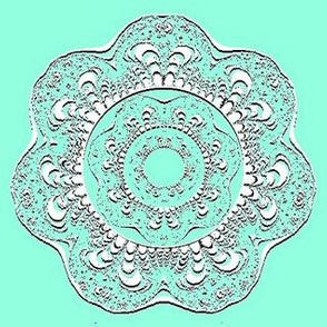 White Fractal Doilies