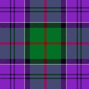 "Colquhoun tartan, 6"" green/purple"