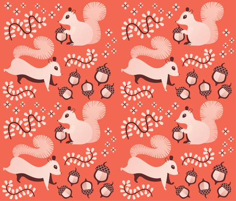 A Cozy Acorn-filled Fall fabric by yourfriendirene on Spoonflower - custom fabric