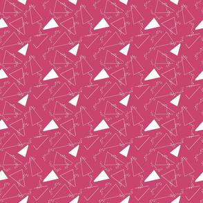 Triangles on Fuchsia Upholstery Fabric