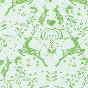 Romantik Damask  (mint linen)