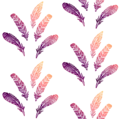 Feathers: Purple Gold