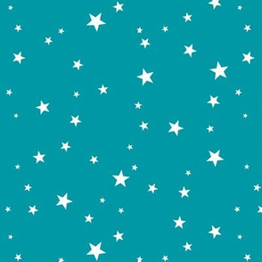 Scattered Stars on Teal